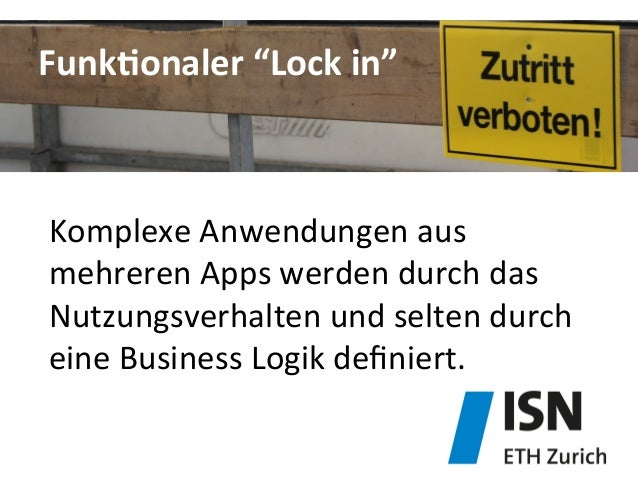 """FunkDonaler  """"Lock  in""""   Komplexe  Anwendungen  aus   mehreren  Apps  werden  durch  das   Nutzungs..."""