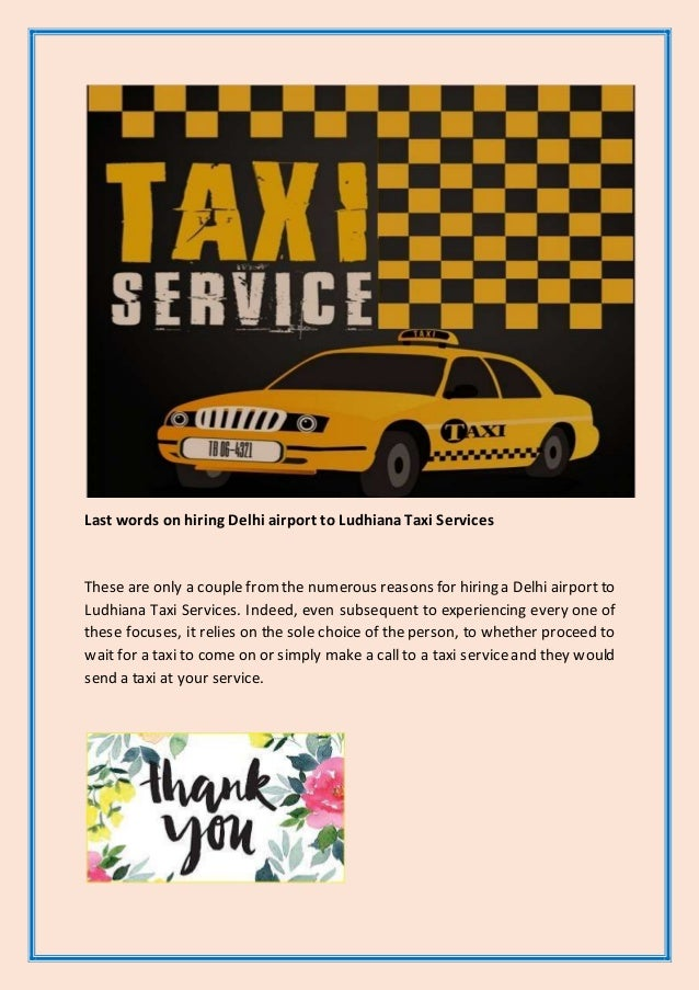 Delhi Airport to Ludhiana Taxi Services – What Are the Perks You Get