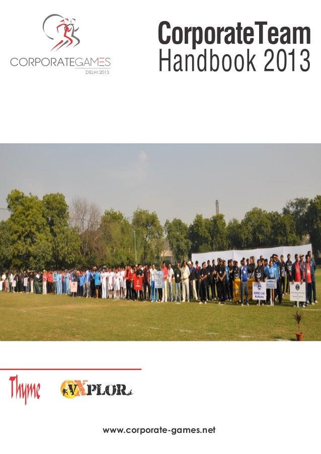 www.corporate-games.net DELHI 2013