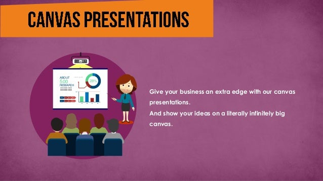 Give your business an extra edge with our canvas presentations. And show your ideas on a literally infinitely big canvas. ...