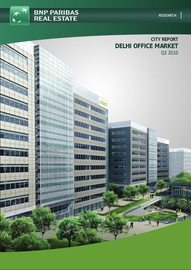 CITY REPORT DELHI OFFICE MARKET Q3 2010