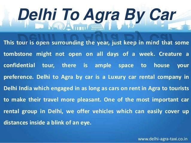 Delhi Agra Tour Taxi