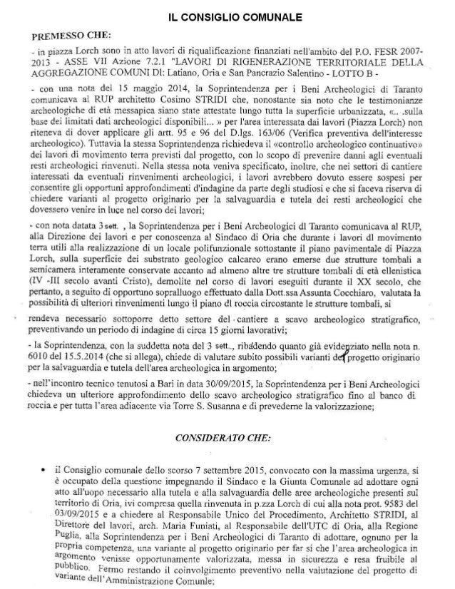 ORIA - Delib. Consiglio Comunale del 19.10.2015