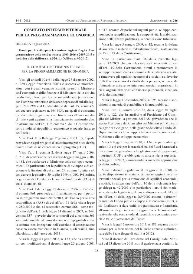 14-11-2012                             GAZZETTA UFFICIALE DELLA REPUBBLICA ITALIANA                      Serie generale - ...