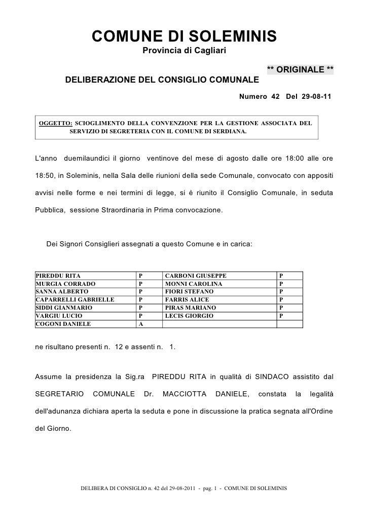 COMUNE DI SOLEMINIS                                   Provincia di Cagliari                                               ...