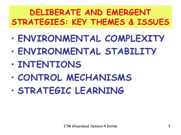 intended and emergent strategies of tesco Intended and emergent strategies an intended strategy [1] is the strategy that an organization hopes to execute intended strategies are usually described in detail within an organization's.