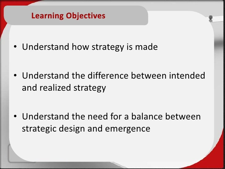 difference between deliberate and emergent strategies Bus 402 week 4 dq 2 deliberate and emergent strategies  what is the difference between deliberate strategies and emergent strategies.
