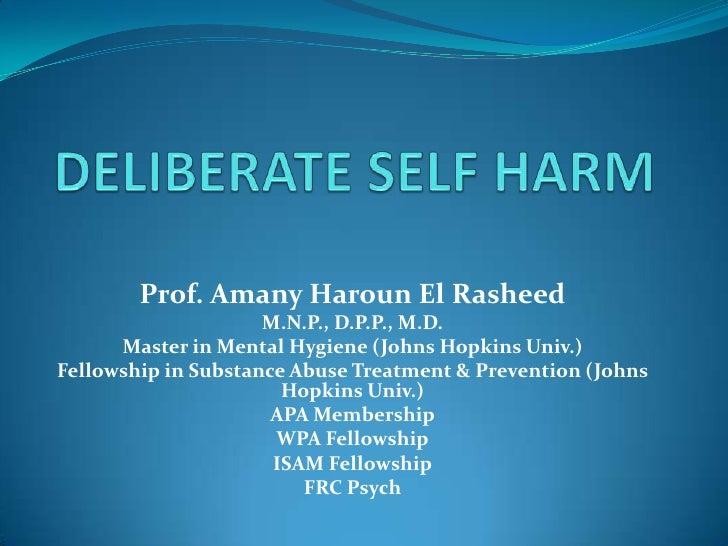 Prof. Amany Haroun El Rasheed                     M.N.P., D.P.P., M.D.      Master in Mental Hygiene (Johns Hopkins Univ.)...