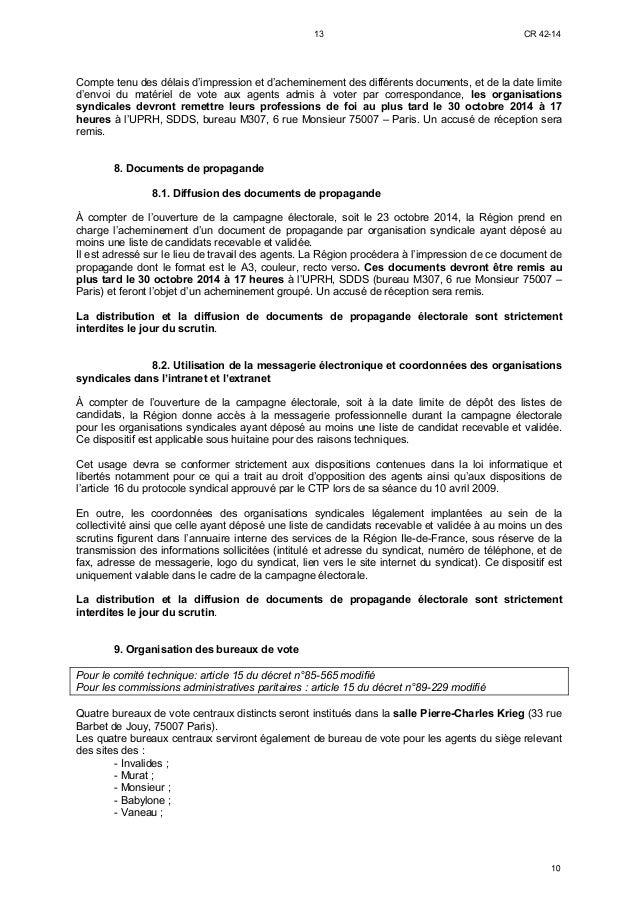 Deliberation Region Ile De France Instances Statutaires Et Elections