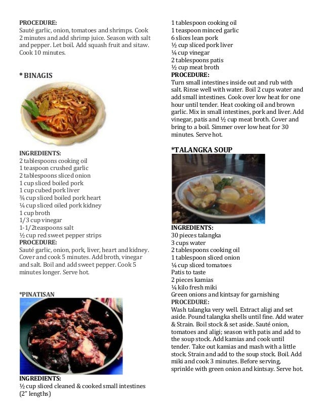 American Food Recipes And Procedures