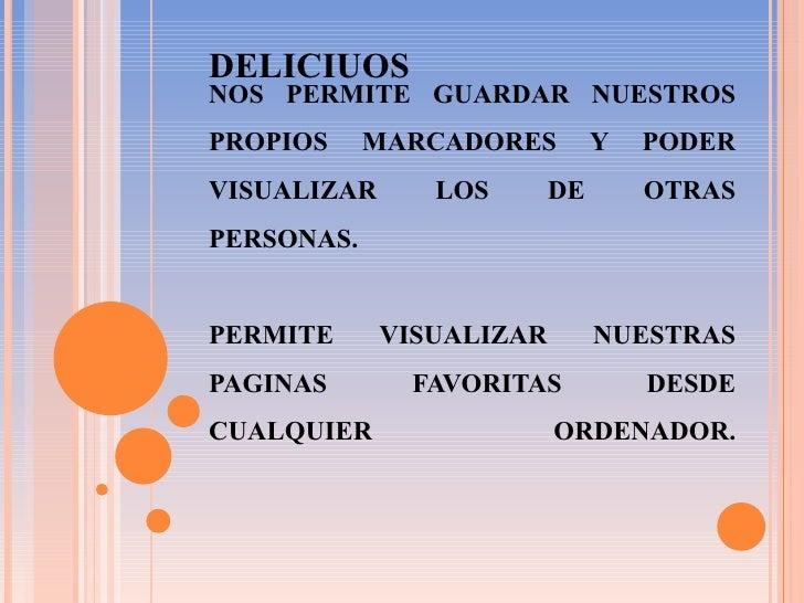 NOS PERMITE GUARDAR NUESTROS PROPIOS MARCADORES Y PODER VISUALIZAR LOS DE OTRAS PERSONAS.   PERMITE VISUALIZAR NUESTRAS PA...