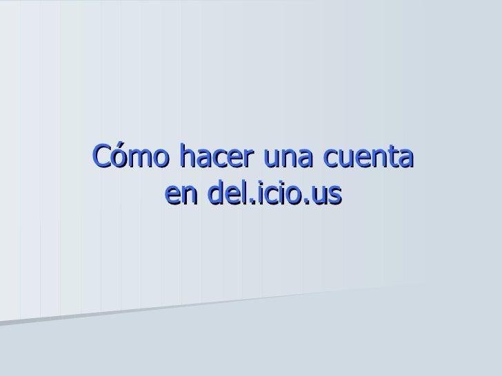 del.icio.us Slide 2