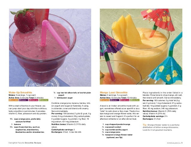 ... 1 fat; 5. EatingWell Favorite Smoothie Recipes ...