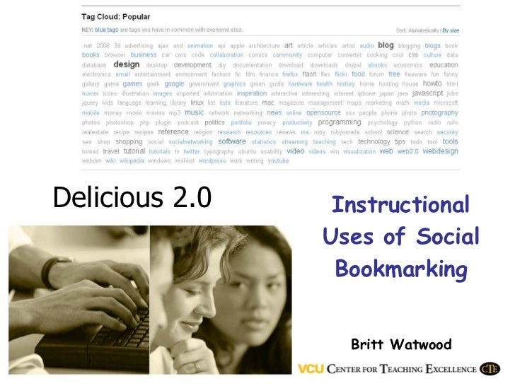 Delicious 2.0 Instructional Uses of Social Bookmarking Britt Watwood