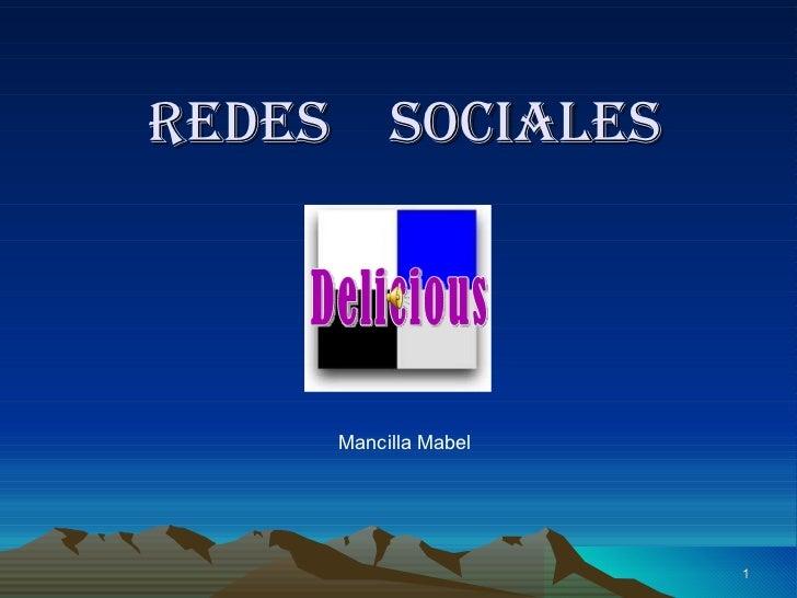 Redes  sociales Mancilla Mabel Delicious