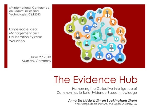 The Evidence Hub Harnessing the Collective Intelligence of Communities to Build Evidence-Based Knowledge Anna De Liddo & S...