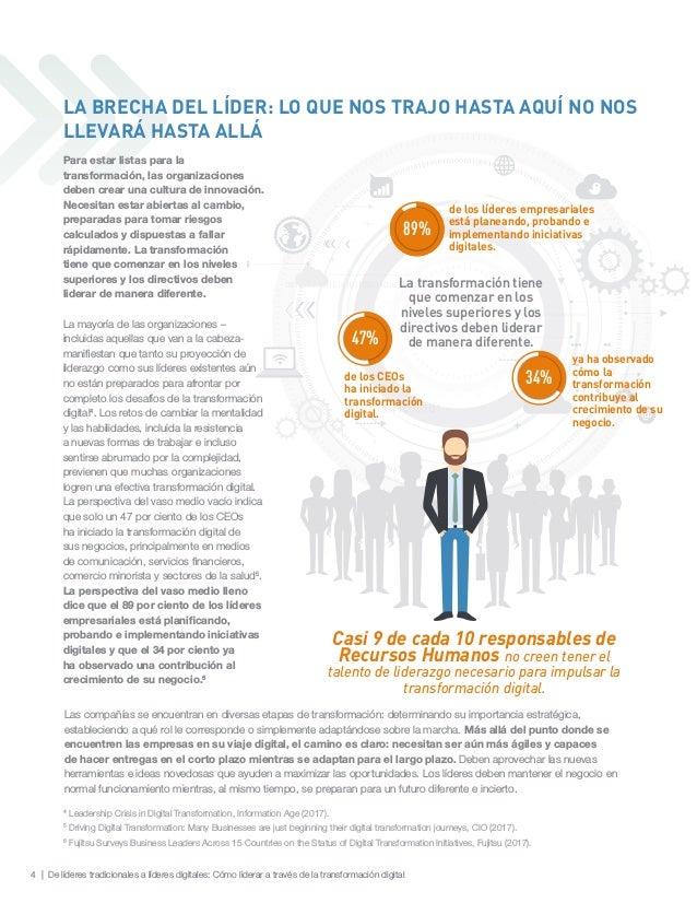 4 | De líderes tradicionales a líderes digitales: Cómo liderar a través de la transformación digital Las compañías se encu...