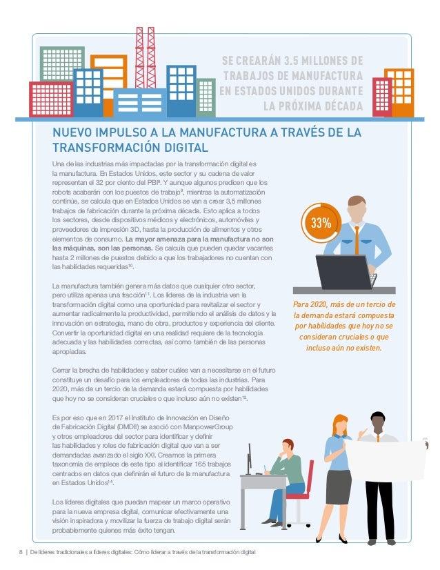 8 | De líderes tradicionales a líderes digitales: Cómo liderar a través de la transformación digital SE CREARÁN 3.5 MILLON...