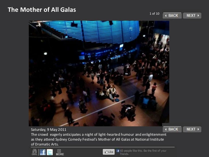 The Mother of All Galas<br />1 of 10<br />Saturday, 9 May 2011<br />The crowd  eagerly anticipates a night of light-hearte...