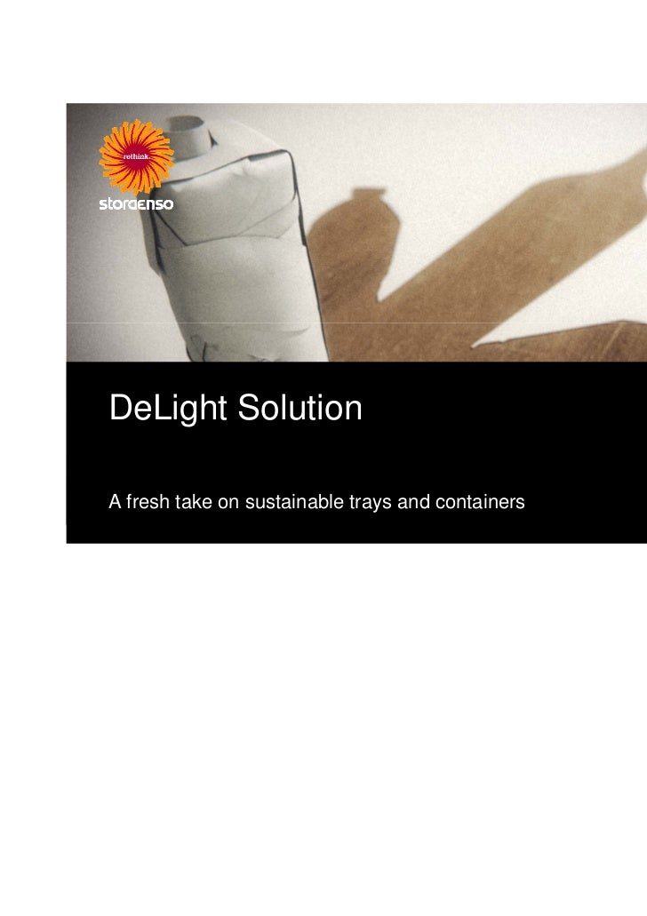 DeLight SolutionA fresh take on sustainable trays and containers