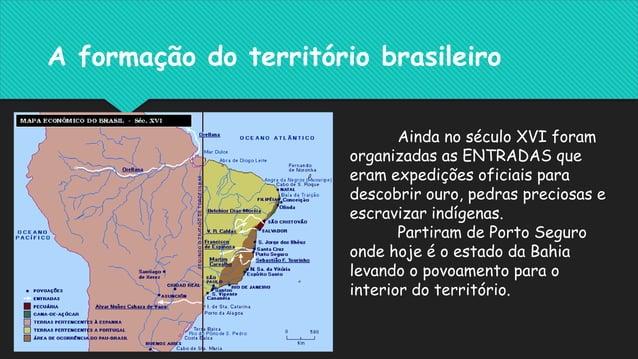 A mineração e a pecuária expandiram- se para o interior, ampliando o território de domínio português e construindo o espaç...