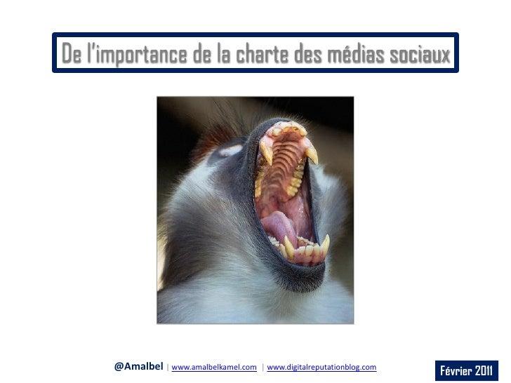 De l'importance de la charte des médias sociaux      @Amalbel | www.amalbelkamel.com   | www.digitalreputationblog.com    ...
