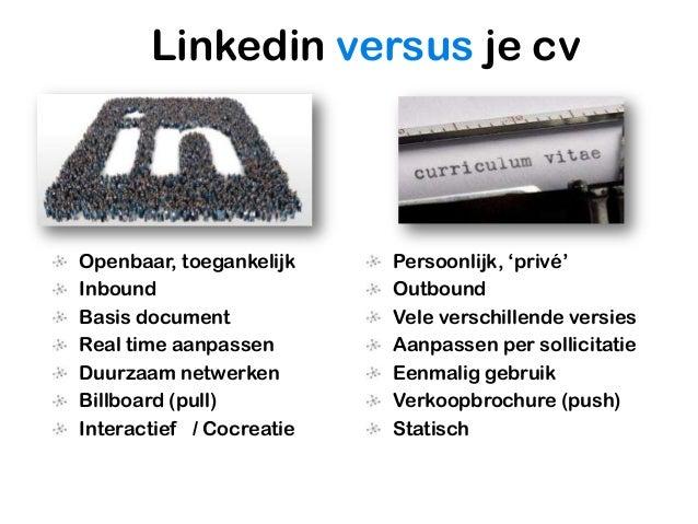 De link tussen cv en Linkedin ben jij | Personal Branding