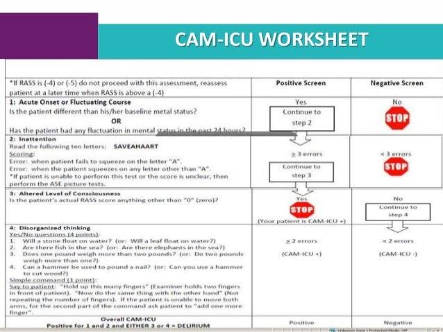 Cam Icu Worksheet on Worksheets Online Chapter 1