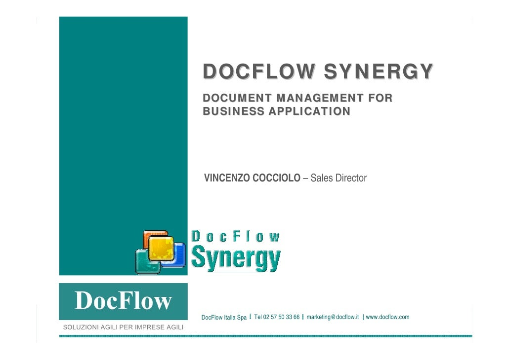 DOCFLOW SYNERGY                                                                       DOCUMENT MANAGEMENT FOR             ...