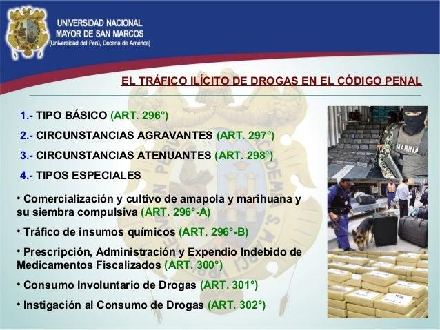 Delito de trafico il cito de drogas for Porte y trafico de estupefacientes codigo penal