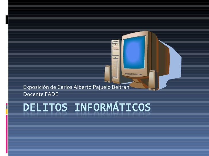 Exposición de Carlos Alberto Pajuelo Beltrán Docente FADE