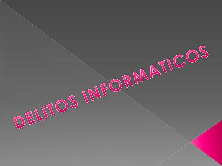 DELITOS INFORMATICOS<br />