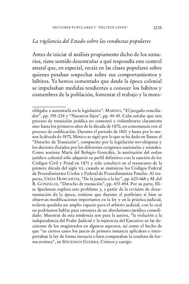 La vigilancia del Estado sobre las conductas populares Antes de iniciar el análisis propiamente dicho de los suma- rios, t...