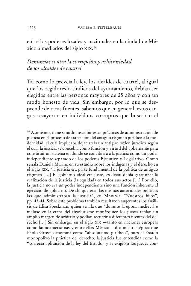entre los poderes locales y nacionales en la ciudad de Mé- xico a mediados del siglo XIX.14 Denuncias contra la corrupción...