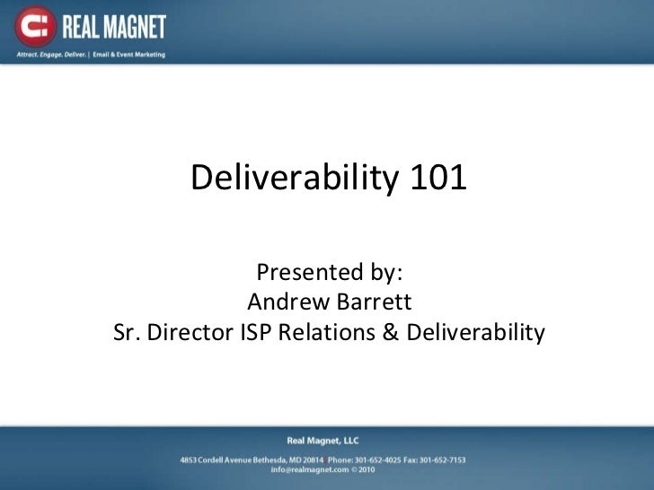 Deliverability 101