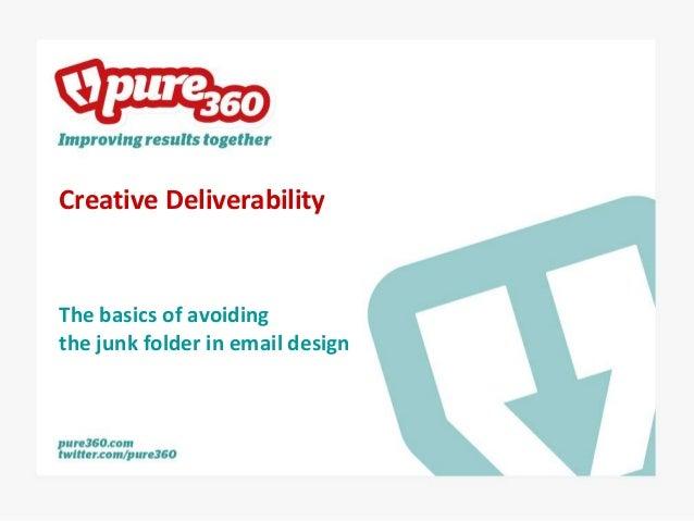 Creative DeliverabilityThe basics of avoidingthe junk folder in email design