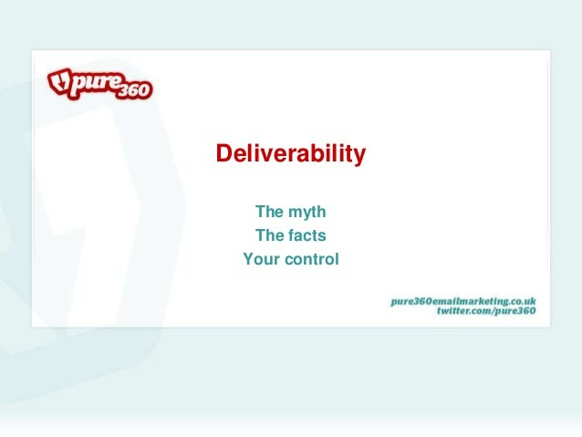 Deliverability<br />The myth<br />The facts<br />Your control<br />