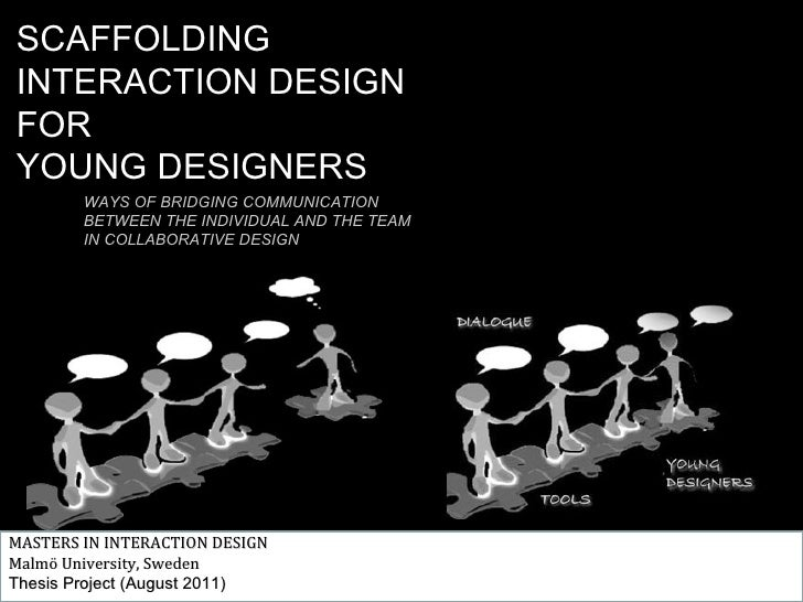 SCAFFOLDINGINTERACTION DESIGNFORYOUNG DESIGNERS        WAYS OF BRIDGING COMMUNICATION        BETWEEN THE INDIVIDUAL AND TH...