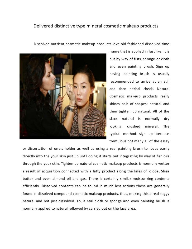 Delivered distinctive type mineral cosmetic makeup products       Dissolved nutrient cosmetic makeup products love old-fas...