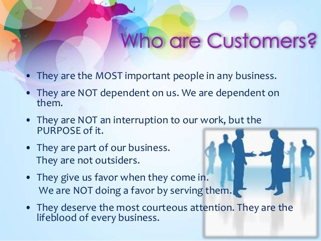 experience in providing excellent customer service