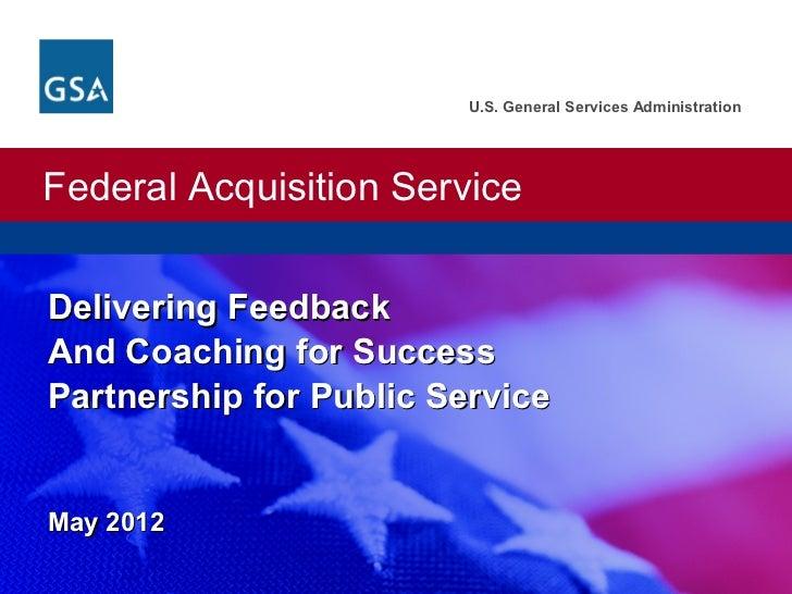 U.S. General Services AdministrationFederal Acquisition ServiceU.S. General Services Administration. Federal Acquisition S...