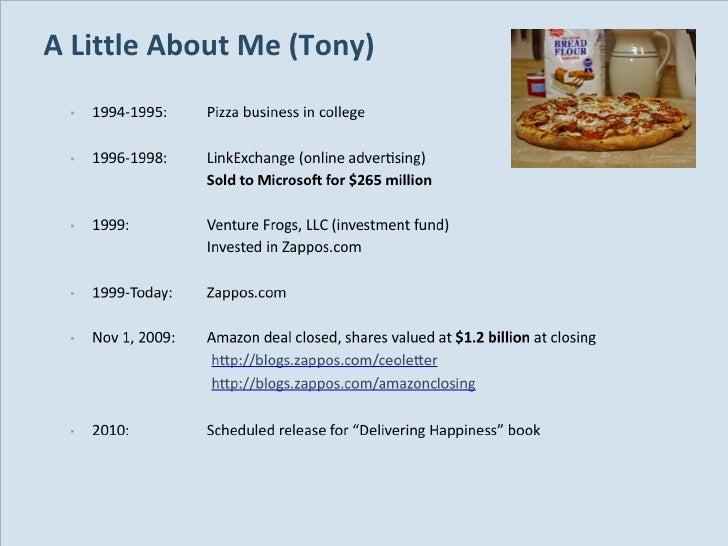 A Little About Me (Tony)