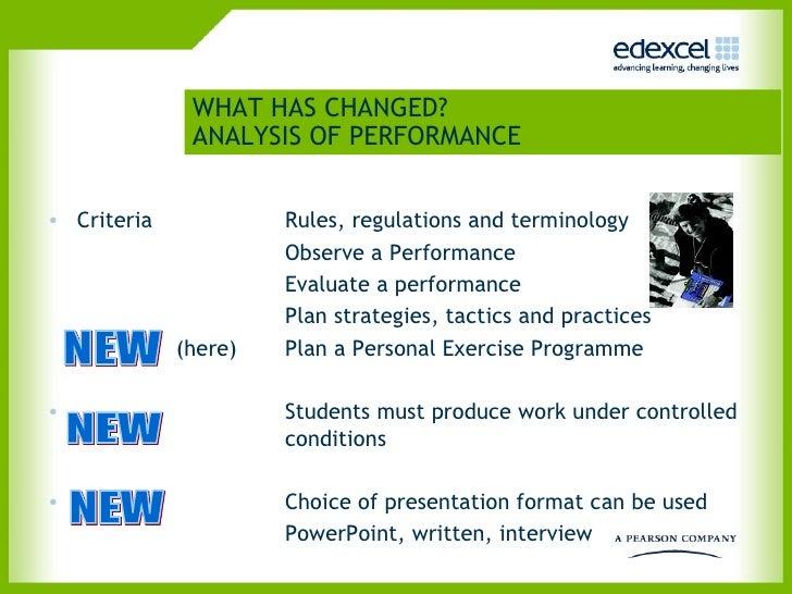 Gcse pe coursework analysis of performance