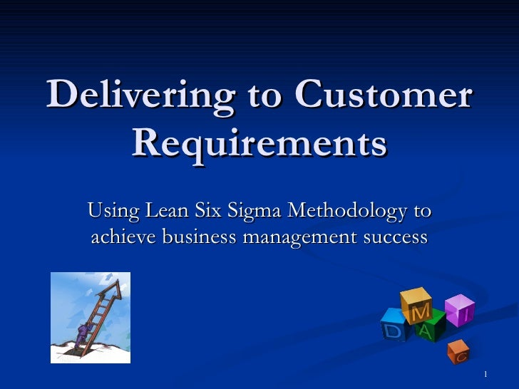 Delivering to Customer Requirements Using Lean Six Sigma Methodology to achieve business management success