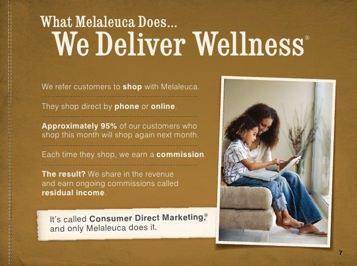 Melaleuca residual income