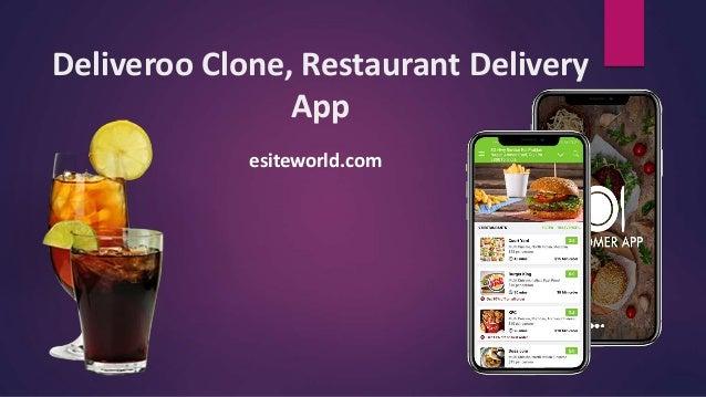 Deliveroo Clone, Restaurant Delivery App esiteworld.com