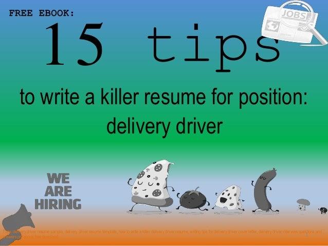 Delivery Driver Resume Sample Pdf Ebook Free Download