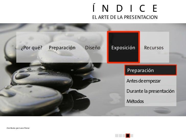 El arte de la presentacion (IV): Exposición Slide 2