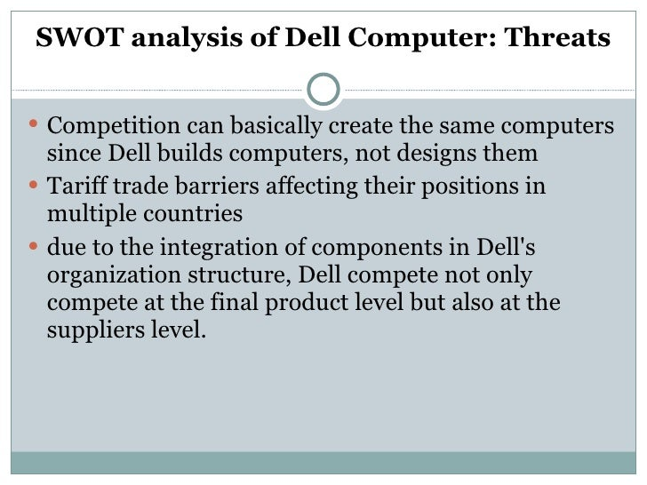dell inc situation analysis and swot Swot analysis of dell computers we use your linkedin profile and activity data to personalize ads and to show you more relevant ads.