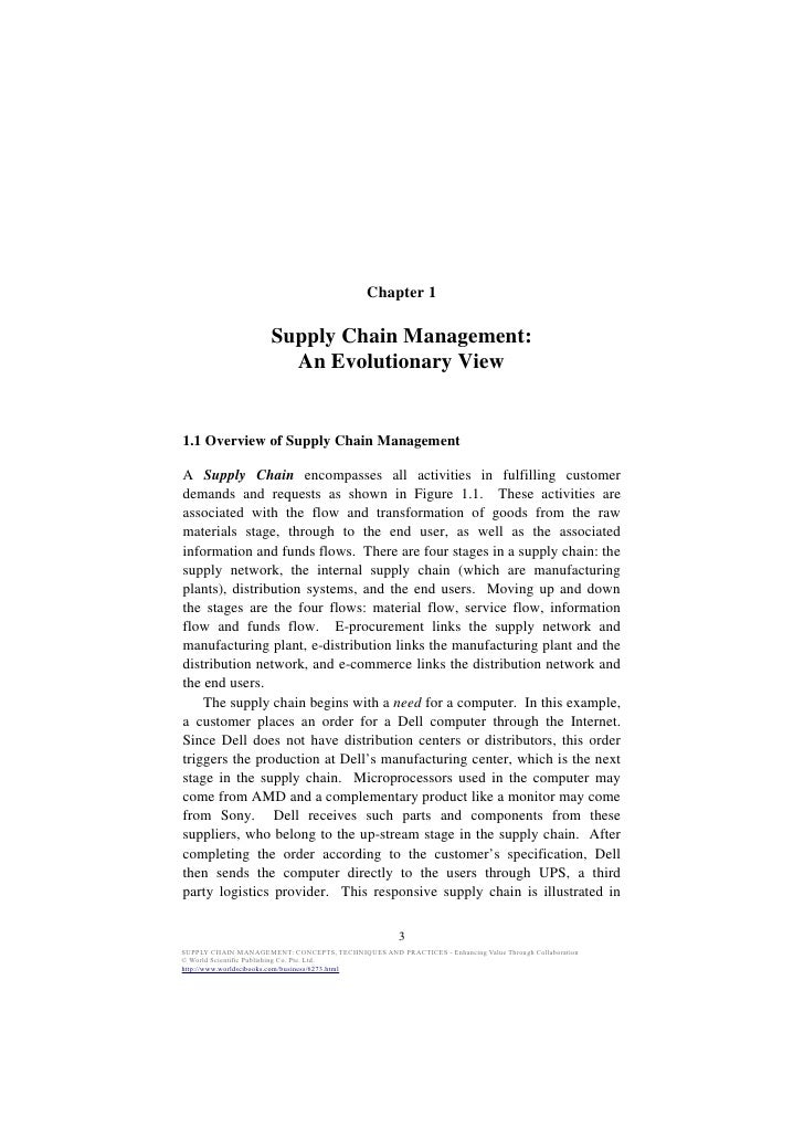 Chapter 1                      Supply Chain Management:                        An Evolutionary View1.1 Overview of Supply ...